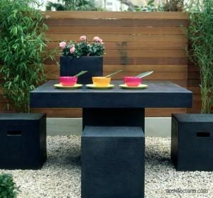 patio untuk tempat makan