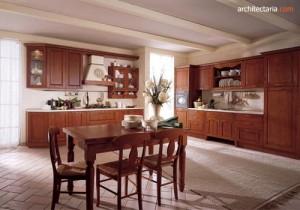 desain dapur klasik bergaya italia
