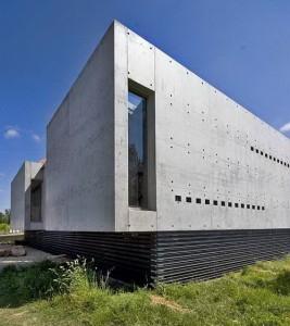desain eksterior rumah dari beton