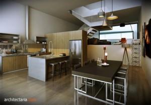 desain interior dapur modern dan bersih