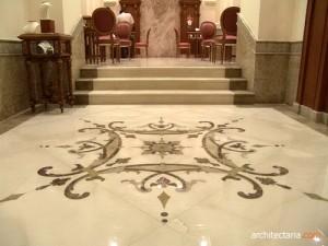 lantai marmer (marble tile flooring)