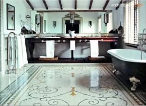 lantai mosaic (mosaic tile flooring)