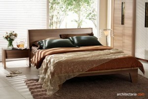 platform bed dengan side table+vas bunga