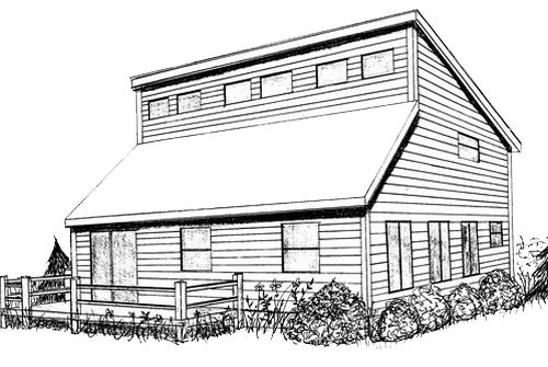 Berbagai macam tipe desain atap pt architectaria media for Clerestory house plans