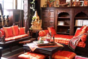 dekorasi interior ala india