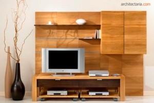 rak TV dari kayu lunak (sintetis)