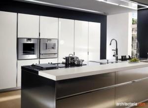 kitchen set dan appliances berbahan stainless steel - view 2