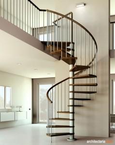 modern spiral stair