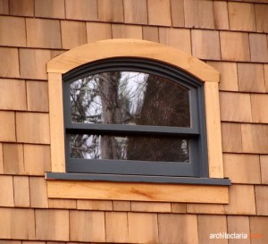 arched double hung window