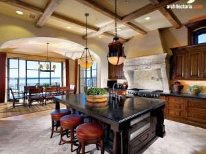 desain interior dapur dan ruang makan ala italia