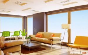 desain ruang keluarga bergaya postmodern 1