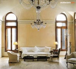 desain ruang tamu bergaya italia