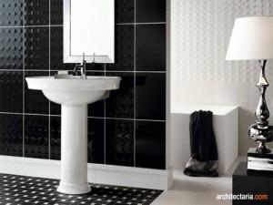 kamar mandi keramik hitam-putih