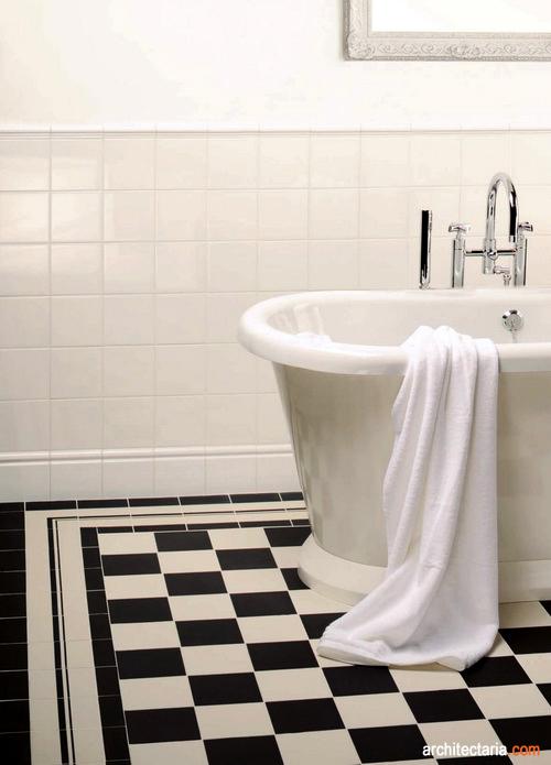 Motif Keramik Kamar Mandi Hitam Putih: ubin kamar mandi papan catur ...