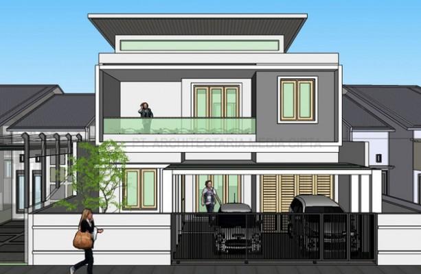 desain rumah_jagakarsa_view 1