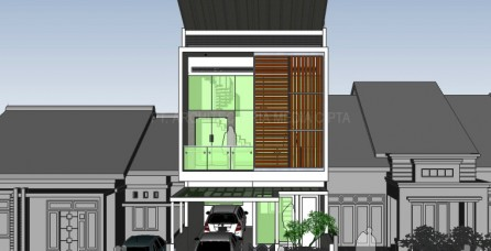Desain Arsitektur & Interior Rumah 240 m2 di Bendungan Hilir – Jakarta Pusat