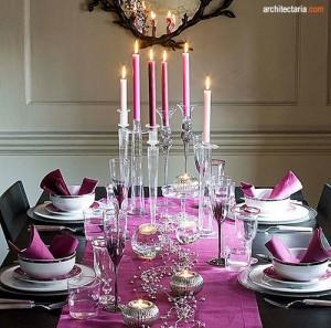 dekorasi meja makan untuk tahun baru