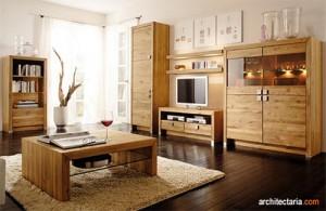 furniture ruang keluarga dari kayu jati