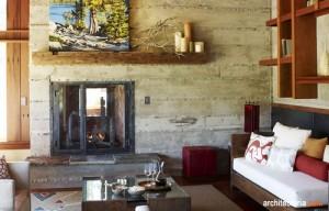 interior desain ala rustic retreat dengan warna sage green