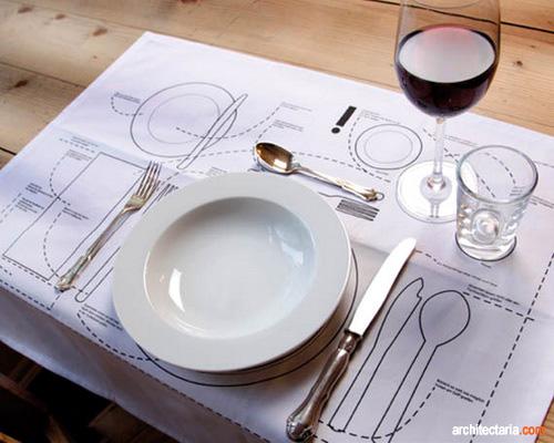 contoh menata meja makan