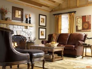 desain interior ruang tamu bergaya country_1