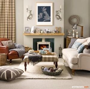 desain interior ruang tamu bergaya country_2