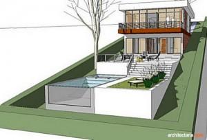 desain rumah di sentul city_lahan miring_3
