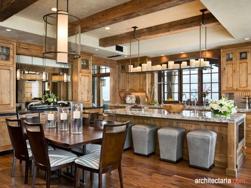 pics photos interior ruang makan desain dapur
