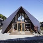 Origami House, Sebuah Desain Rumah Beratap Lipat Menyerupai Origami