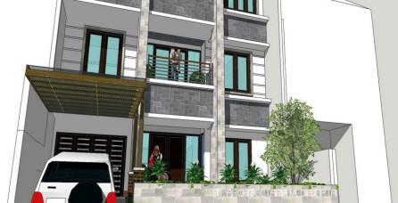 Desain Arsitektur & Interior Rumah 450 m2 di Pluit – Jakarta Utara