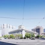 Desain Gedung Pengadilan di Amerika Serikat dengan Sun shades Vertikal oleh Thomas Phifer