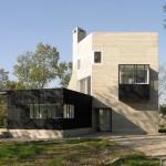 Rumah Pensiunan dari Bahan Beton dan Kayu di Belanda karya Marie-José Van Hee Architecten
