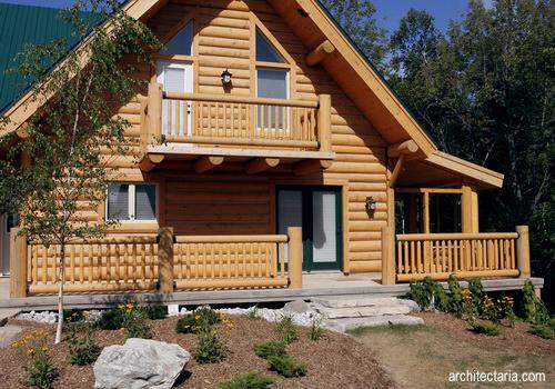 dekorasi interior untuk rumah kayu log houses