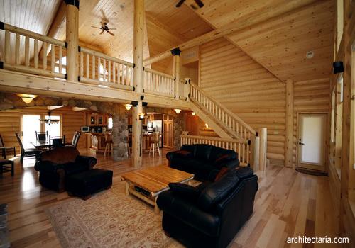 dekorasi interior untuk rumah kayu log houses pt