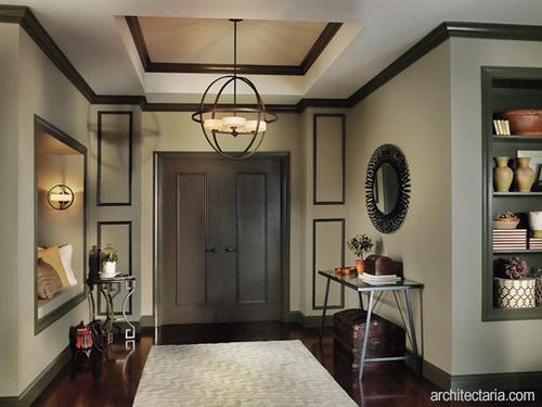 Desain Foyer : Menambahkan lampu gantung atau kandelar pada serambi rumah