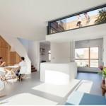 Desain Rumah di London dengan Langit-Langit Rendah untuk Menampilkan Atap Teras yang Cekung Karya Scenario
