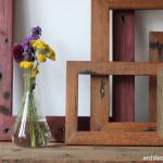 Mengubah Jendela Bekas Menjadi Sebuah Pigura Foto
