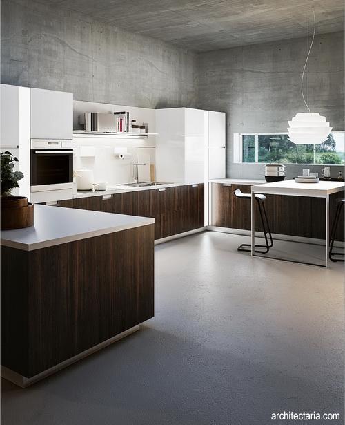 mendesain interior ruang dapur dengan desain berbentuk u