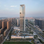 SOM Menambahkan Gedung Pencakar Langit yang Terbuat dari Kaca di Sebuah Daerah di China yang Sedang Mengalami Perkembangan Teknologi