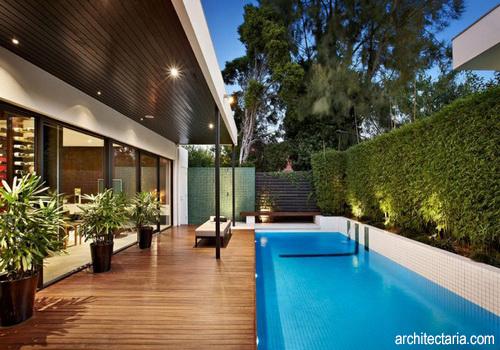 desain rumah ada kolam renang