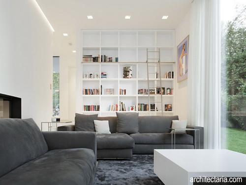 dekorasi interior ruang tamu berukuran kecil agar lebih