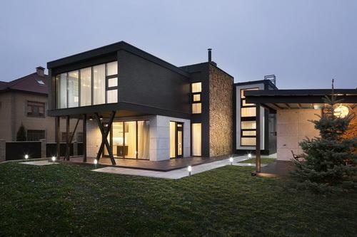 Desain Rumah Bergaya Kontemporer Di Kiev Yang Menawarkan Desain Yang Terlihat Harmonis Pt Architectaria Media Cipta
