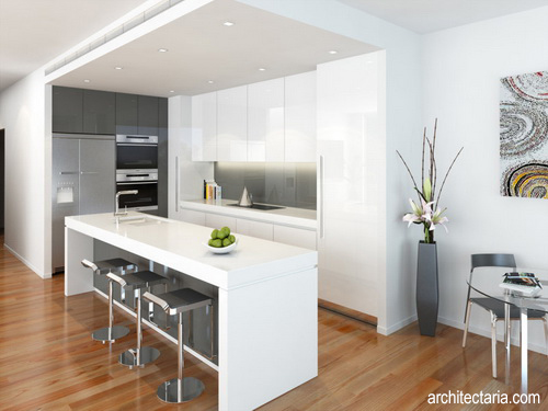 Desain Meja Dapur Island  manfaat dan kegunaan kitchen island yang harus anda ketahui