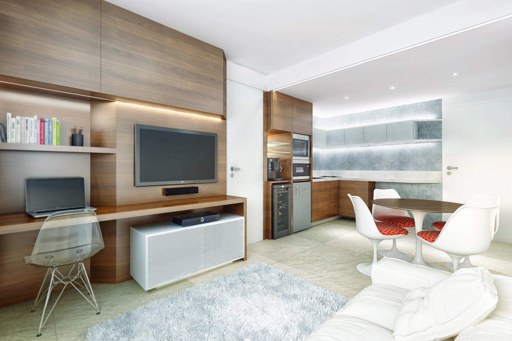 Desain Interior Apartemen Berukuran Mungil 2