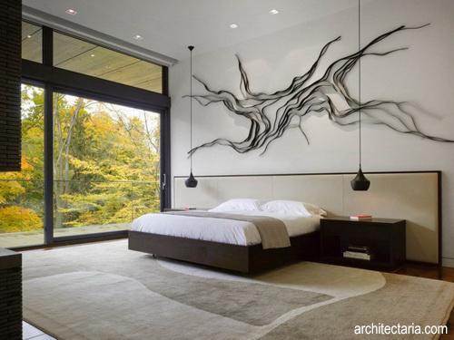 mendesain interior kamar tidur utama yang terlihat stylish
