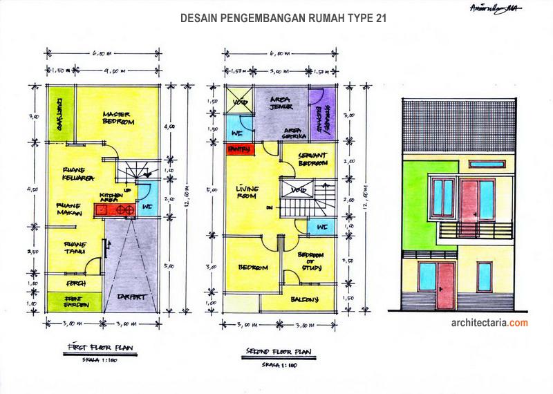 Desain Renovasi Rumah Type 21   PT. Architectaria Media Cipta