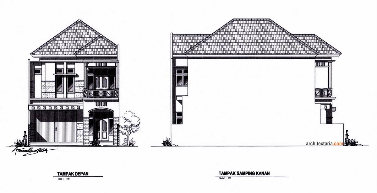 Desain Rumah Dan Ruang Usaha Ruko Rukan 2 Lantai Pt Architectaria Media Cipta