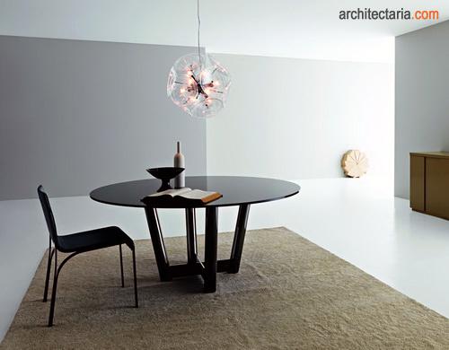 Gambar Meja Makan Bulat Untuk Ruang Dapur Berukuran Kecil Mungil