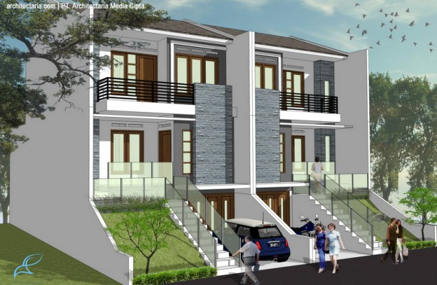 desain rumah townhouse luas 90 m2_2a 613x400