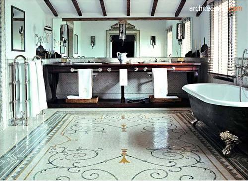 Lantai Mosaic Tile Flooring